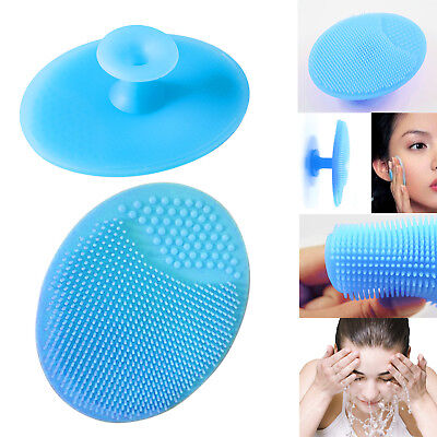 Soft Silicone Facial Cleaning Brush Face Blackhead Pore Exfoliator Cleaner Scrub
