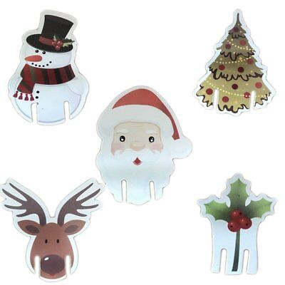 10pcs Christmas Elk Wine Glass Cup Mark Cards Hat Table Xmas Party DIY Decor Hot