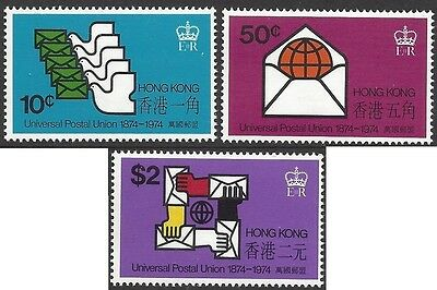 Hong Kong 1974 UPU CENTENARY (3) UNHINGED MINT SG 308-310
