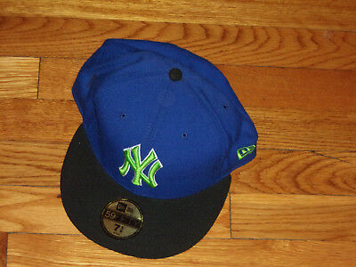 e630e237076 New Era 59Fifty New York Yankees 7 5 8 Fitted Baseball Cap Excellent  Condition