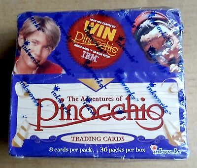 Inkworks Adventures Of Pinocchio Sealed Box Of 36 Packs Of Trading Cards 1996