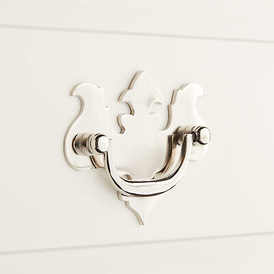 Signature Hardware Chippendale Brass Drawer Pull Polished Nickel