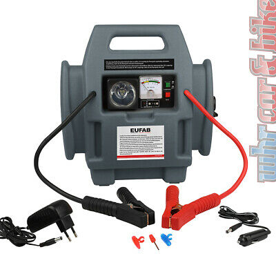 Eufab 12V Power-Pack 300A / 600A mobile Starthilfe Stromquelle 18 bar Kompressor