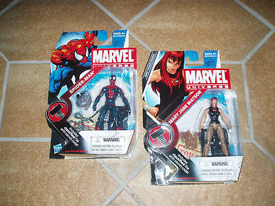 2009 MARVEL UNIVERSE HASBRO Actionfiguren Spider-Man & Mary Jane Watson NEU OVP!