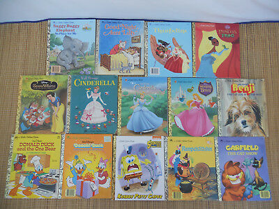 LOT Of 14 Vintage  A LITTLE GOLDEN BOOKS Collection