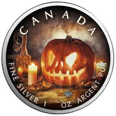 Kanada - 5 Dollar 2018 - Maple Leaf - Halloween (2.) - 1 Oz Silber in Farbe ST