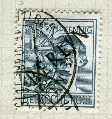 GERMANY; WEST BERLIN 1948 Optd.(Black) Pictorial issue fine used 12pf.