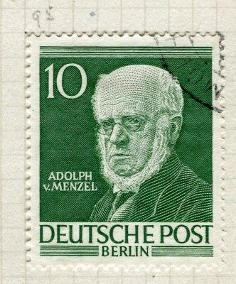 GERMANY; WEST BERLIN 1952-3 Famous Berliners issue fine used 10pf. value