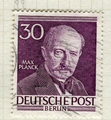 GERMANY; WEST BERLIN 1952-3 Famous Berliners issue fine used 30pf. value
