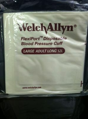 Case Of 20 Welch Allyn Soft-12L 901044 Soft Large Adult Long Blood Pressure Cuff