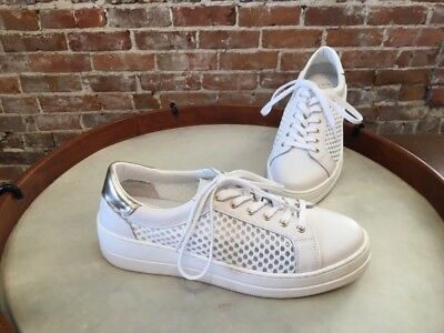 8194f2c35d4 STEVE MADDEN NAPA Natural Comfort White Leather & Mesh Lace up ...
