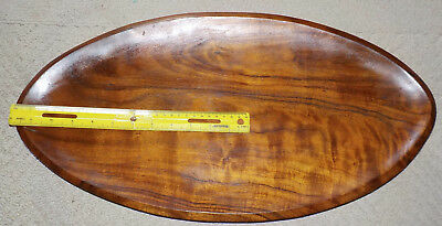 vintage 21-3/4 inch hawaiian koa wood tray. hawaii