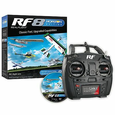 Real Flight RF8 Horizon Hobby Edition with InterLink-X Controller RFL1000