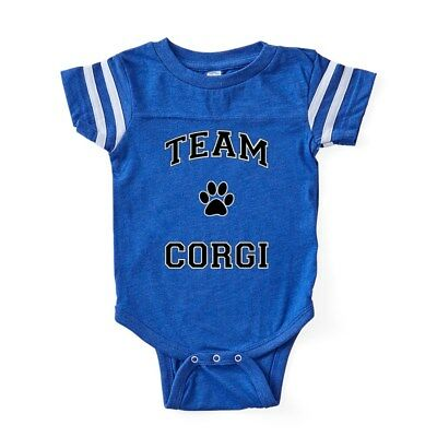 CafePress Protected By A Corgi Body Suit Baby Bodysuit 1307585172