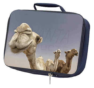 Camels Intrigued by Camera Navy Insulated School Lunch Box Bag, CAM-1LBN