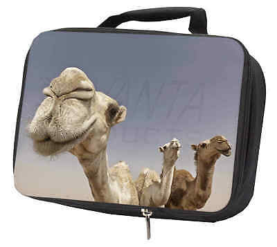 Camels Intrigued by Camera Black Insulated School Lunch Box Bag, CAM-1LBB
