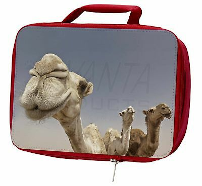 Camels Intrigued by Camera Insulated Red School Lunch Box/Picnic Bag, CAM-1LBR