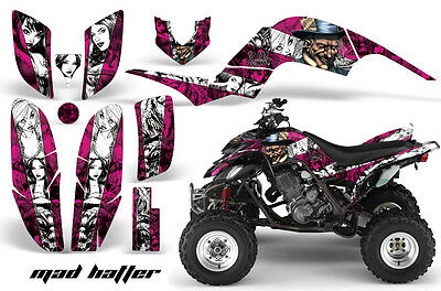 ATV Decal Graphic Kit Quad Sticker Wrap For Yamaha Raptor 660 2001-2005 MAD W P