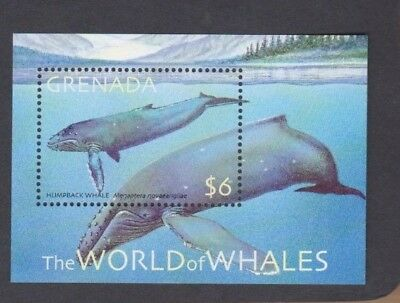 2001 Grenada Whales SG 4541a MUH MS
