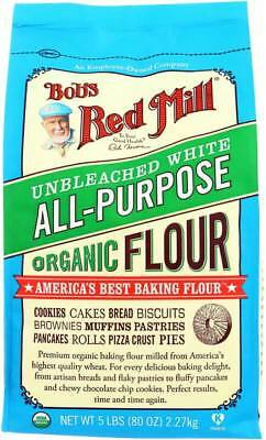Bob's Red Mill Organic Unbleached White All-Purpose Flour 5 lb Case of 4 Kosher