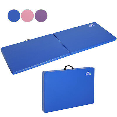 Folding Gymnastics Mat Pilates Yoga Stretching Exercise Pad Sports With Handle