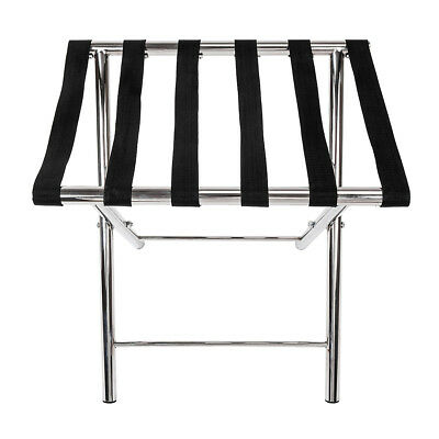 Metal Steel Portable Travel Folding Luggage Suitcase Rack Stand for Home Hotel