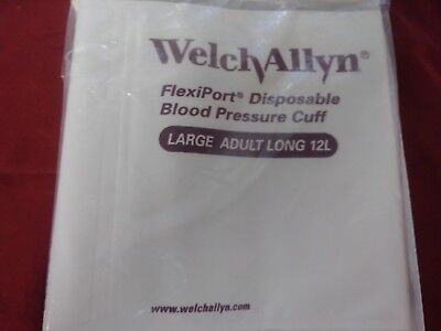 Case Of 20 Welch Allyn 901044 Disposable Soft Blood Pressure Cuffs Adult 12 Long