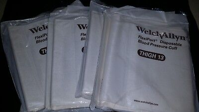 Lot 4 Welch Allyn 901044 Soft-13 Thigh 13 Flexiport Blood Pressure Cuffs Medical