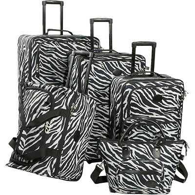 American Flyer Animal Print 5-Piece Luggage Set 3 Colors