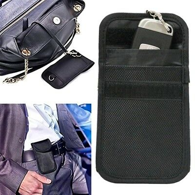 1Pc Car Key Signal Blocker Case Cage Fob Pouch Keyless RFID Blocking Bag