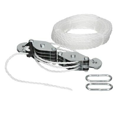 Heavy duty cable pulley set 180kg lifting cargo workshop lifting cord rope hook