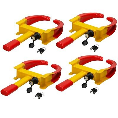 4x Heavy duty security wheel clamps +keys anti-theft lock trailer caravan claw