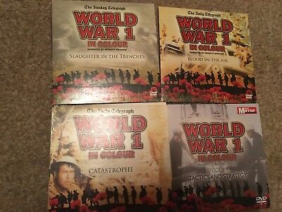 World War 1 One In Colour Kenneth Branagh DVDS Set World WWI Great Documentary