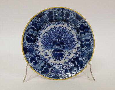 Antique 18th Century Dutch Delft Pottery Fantail Plate - DE PORCELEYNE CLAEUW