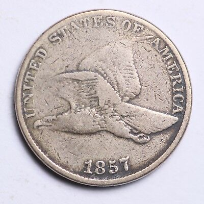 1857 Flying Eagle Small Cent CHOICE VG FREE SHIPPING E122 KCN