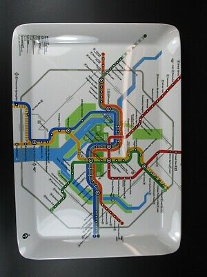 Washington Melamin Servier Tablett Tray,38 cm,U Bahn Subway Netz,Neu