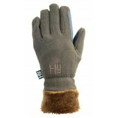 Hy5 Fur Lined Fleece Gloves - Chocolate - X Large