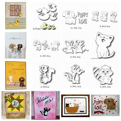 Animals Metal Cutting Dies Stencil DIY Scrapbook Album Paper Card Embossing