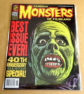 """BACK ISSUE """"FAMOUS MONSTERS OF FILMLAND MAGAZINE"""" No 221 40th ANNIVERSARY ISSUE"""