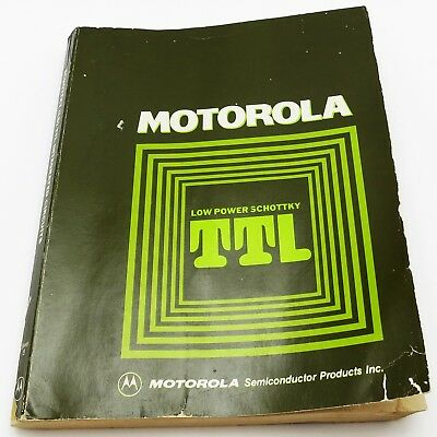 MOTOROLA *LOW POWER SCHOTTKY TTL* Vintage 1977 DATA BOOK M2900 Processor Family