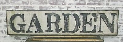 GARDEN Sign, 4' Long, Weathered Vintage Inspired, Hand Lettered,Cottage Style