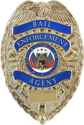 Bail Bond Enforcement Agent Badge Bondsman Shield Fugitive Bounty Hunter Officer