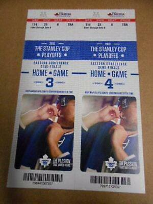 Toronto Maple Leafs Stanleycup hockey playoff tickets home game 3 and 4 for 2013