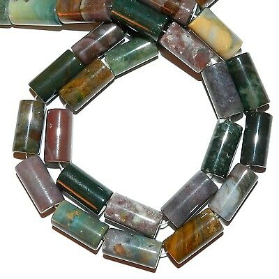 """NG2453f Fancy Jasper Mixed Color 20mm Round Tube Natural Gemstone Beads 16"""""""