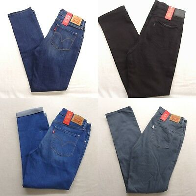New Levi's Womens Mid Rise Skinny Blue Light Black Stretch Denim Jeans All Sizes