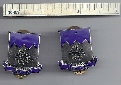 Pair Army Crests 297th Infantry Alaska National Guard YUH YEK Military Insignias