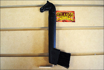 Hilason Show Horse Head Hoof Pick Brush With Black Handle