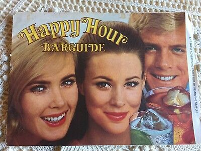 Vintage Collectible 1969 SOUTHERN COMFORT Happy Hour Recipe Bar Guide Booklet