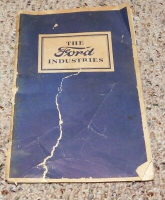 RARE 1926 Ford Industries Automobile Advertising Booklet