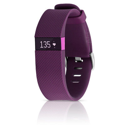 Fitbit Charge HR Large Plum Band Activity Tracker Heart Rate Monitor  #F229-Plum
